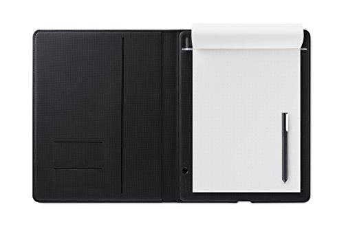 ワコム Wacom Bamboo Folio L A4サイズ対応 スマートパッド ダークグレー 電子ノート ボールペンで紙にメモやスケッチを書いてデジタル化 スマホ タブレット対応 CDS810G