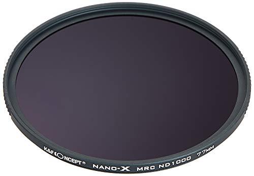 K&F Concept NANO-X NDフィルター 77mm  ND1000(10絞り分減光) ドイツSCHOTTガラス MRCナノコーティング