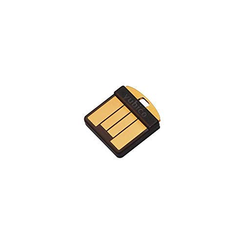 Yubico YubiKey 5 Nano Two Factor Authentication Security Key - Black - USB-A