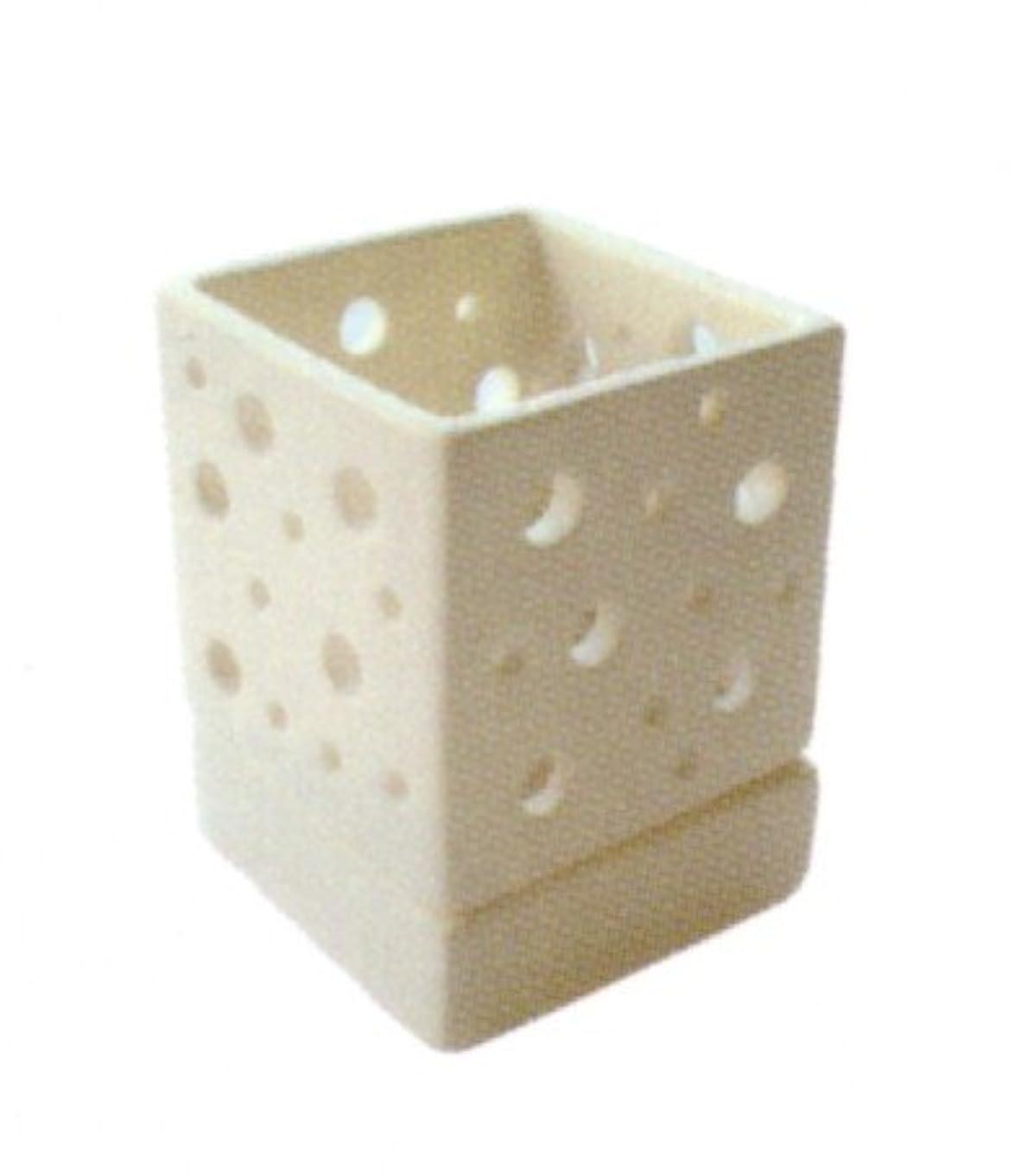 容器木製指導するキャンドルホルダー キューブホワイト