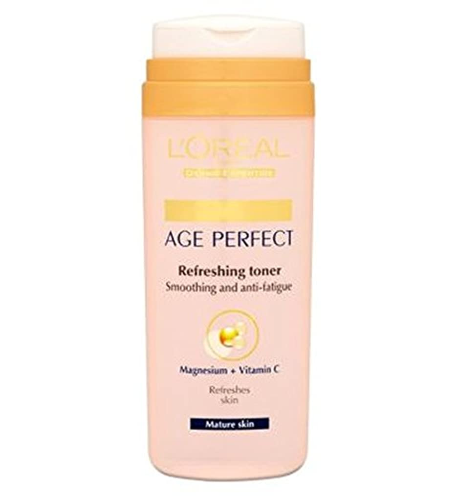 売上高レトルトミュートL'Oreallパリ真皮専門知識の年齢、完璧なさわやかなトナー成熟肌の200ミリリットル (L'Oreal) (x2) - L'Oreall Paris Dermo-Expertise Age Perfect Refreshing...