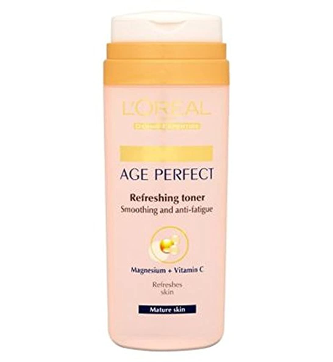 雄弁永久実際L'Oreallパリ真皮専門知識の年齢、完璧なさわやかなトナー成熟肌の200ミリリットル (L'Oreal) (x2) - L'Oreall Paris Dermo-Expertise Age Perfect Refreshing...