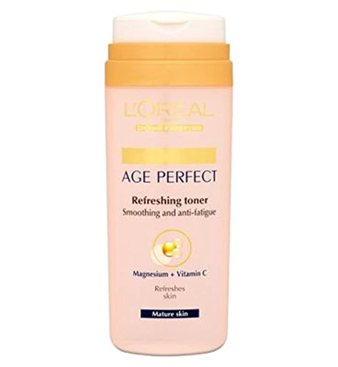 険しいフォージ望むL'Oreallパリ真皮専門知識の年齢、完璧なさわやかなトナー成熟肌の200ミリリットル (L'Oreal) (x2) - L'Oreall Paris Dermo-Expertise Age Perfect Refreshing...
