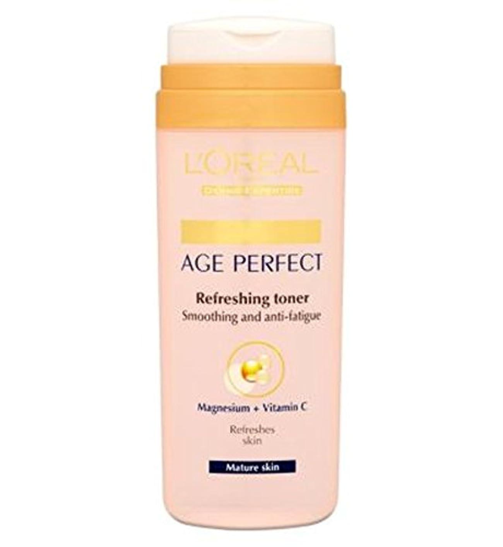 L'Oreallパリ真皮専門知識の年齢、完璧なさわやかなトナー成熟肌の200ミリリットル (L'Oreal) (x2) - L'Oreall Paris Dermo-Expertise Age Perfect Refreshing...