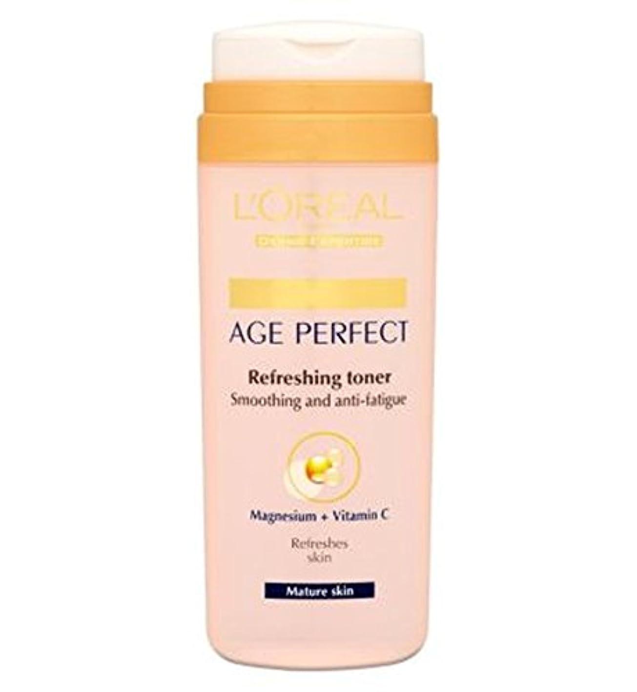 現れる近々リードL'Oreall Paris Dermo-Expertise Age Perfect Refreshing Toner Mature Skin 200ml - L'Oreallパリ真皮専門知識の年齢、完璧なさわやかなトナー...