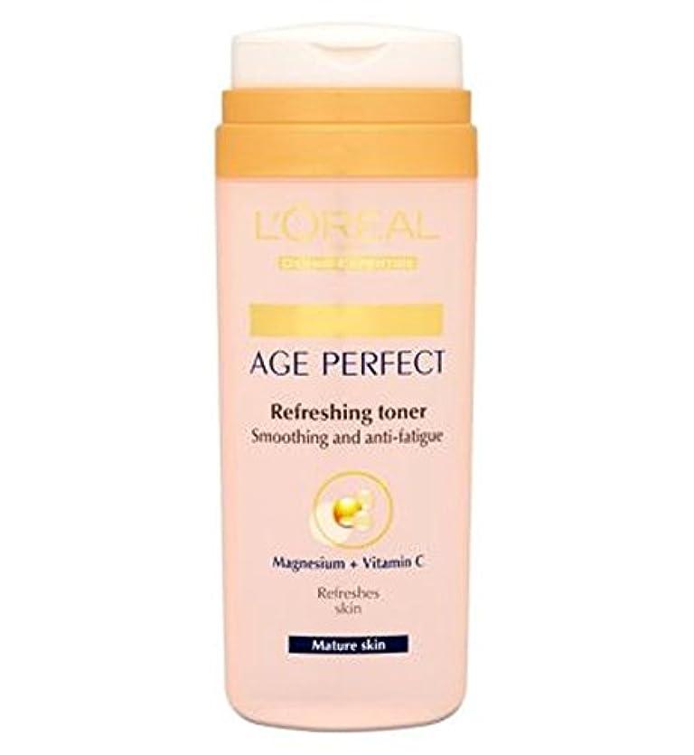 L'Oreall Paris Dermo-Expertise Age Perfect Refreshing Toner Mature Skin 200ml - L'Oreallパリ真皮専門知識の年齢、完璧なさわやかなトナー...
