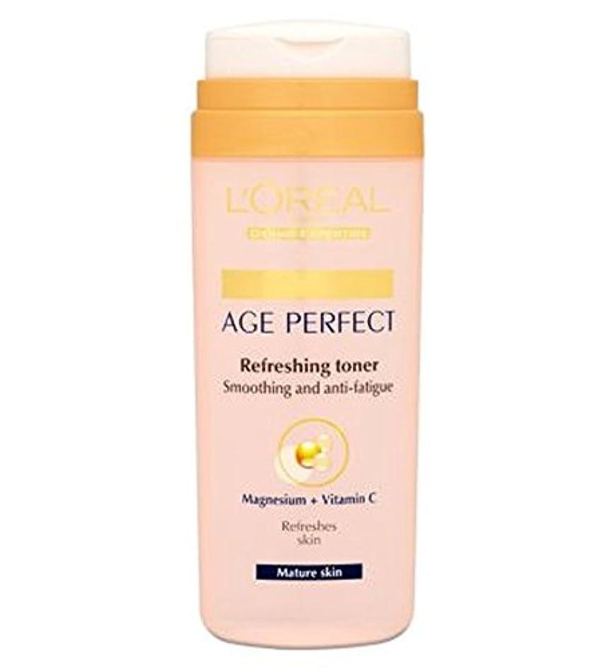 下に君主制受け入れL'Oreall Paris Dermo-Expertise Age Perfect Refreshing Toner Mature Skin 200ml - L'Oreallパリ真皮専門知識の年齢、完璧なさわやかなトナー...