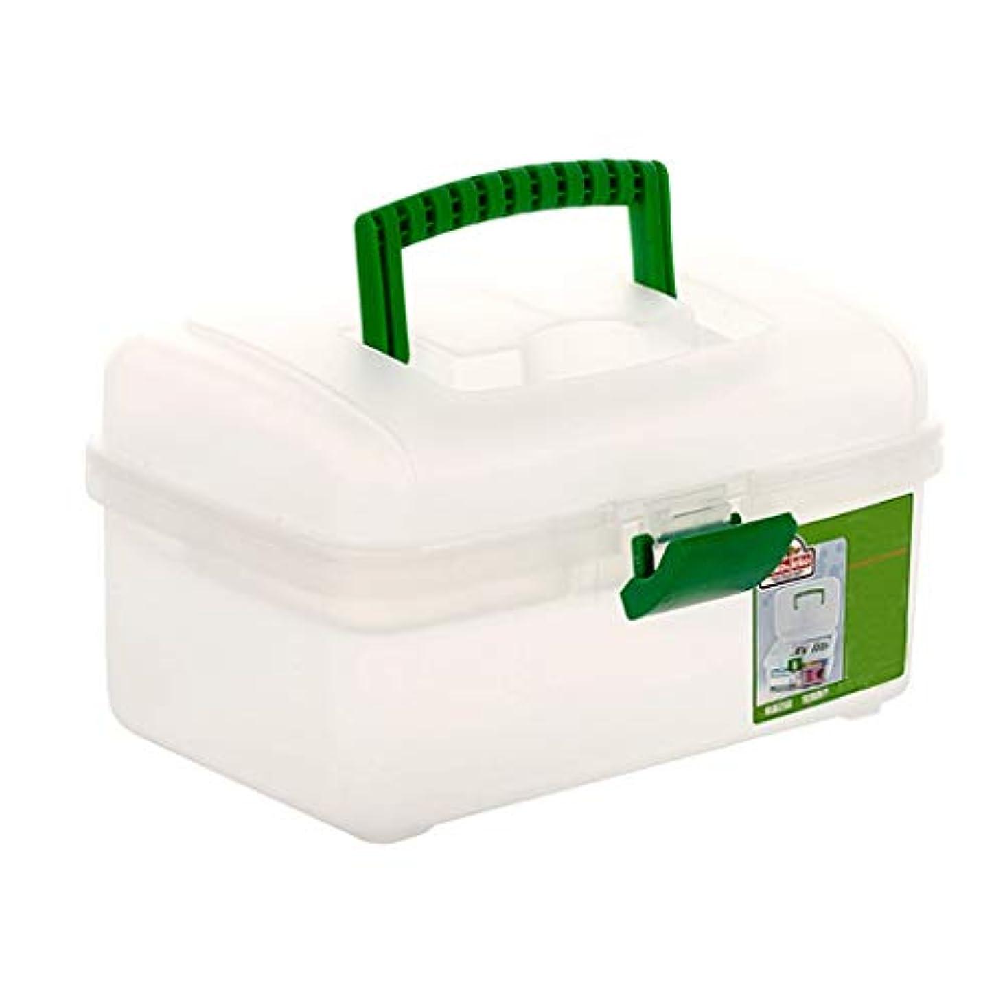 発生拾う初期のYQCS●LS 多層救急薬収納ボックス家庭用プラスチックこども用薬品ボックス医療用箱携帯用収納箱(色:透明)