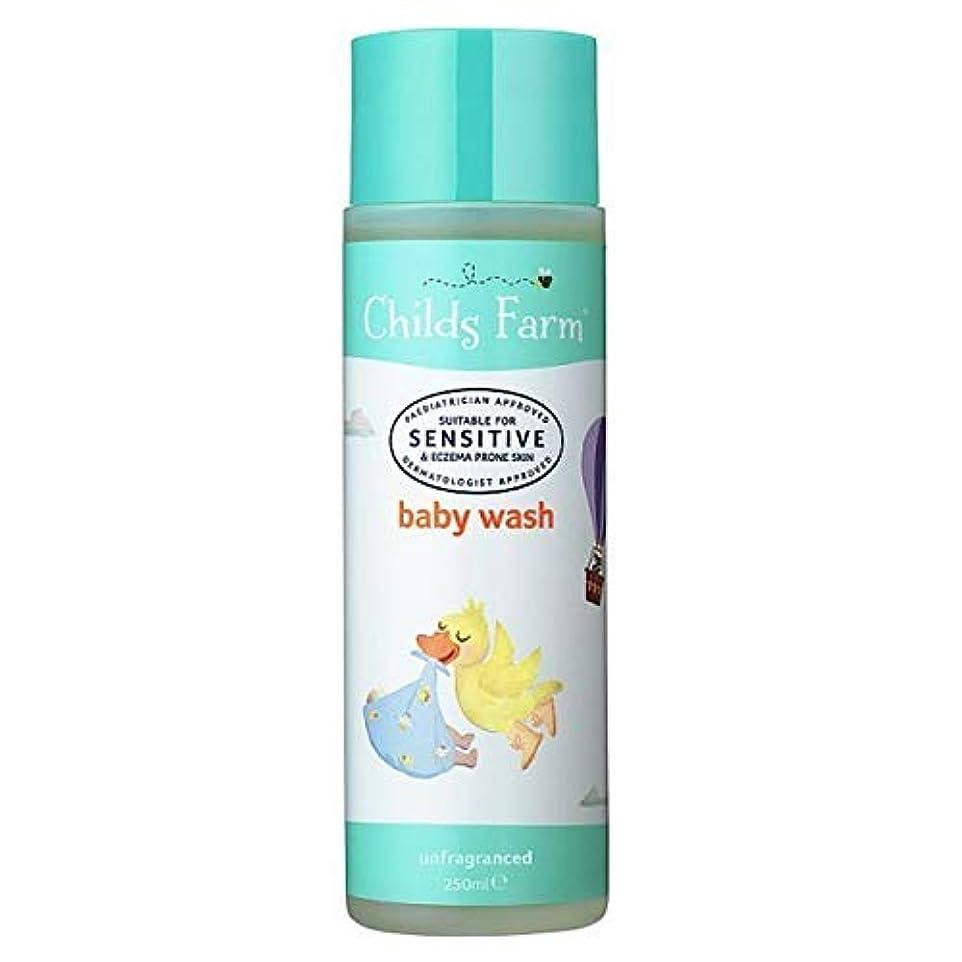 抽選アマゾンジャングルやろう[Childs Farm ] チャイルズファームの赤ちゃんは、無香料250ミリリットルを洗います - Childs Farm Baby Wash Unfragranced 250ml [並行輸入品]