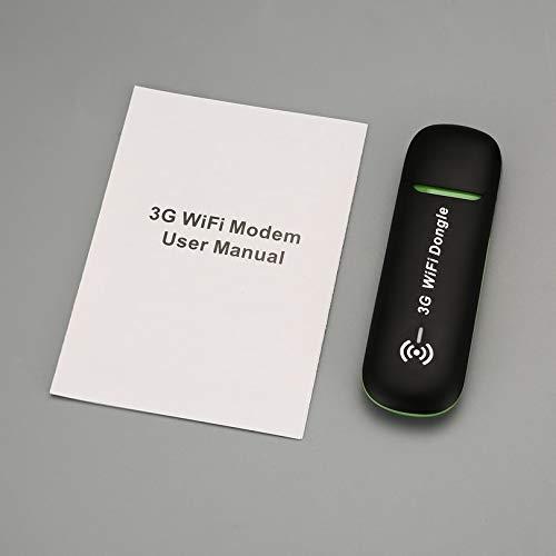 QR62W 3GモバイルWifiホットスポット車のUSBモデムユニバーサルブロードバンドミニWi-FiルーターMifiドングル付きSIMカードスロット - ブラック