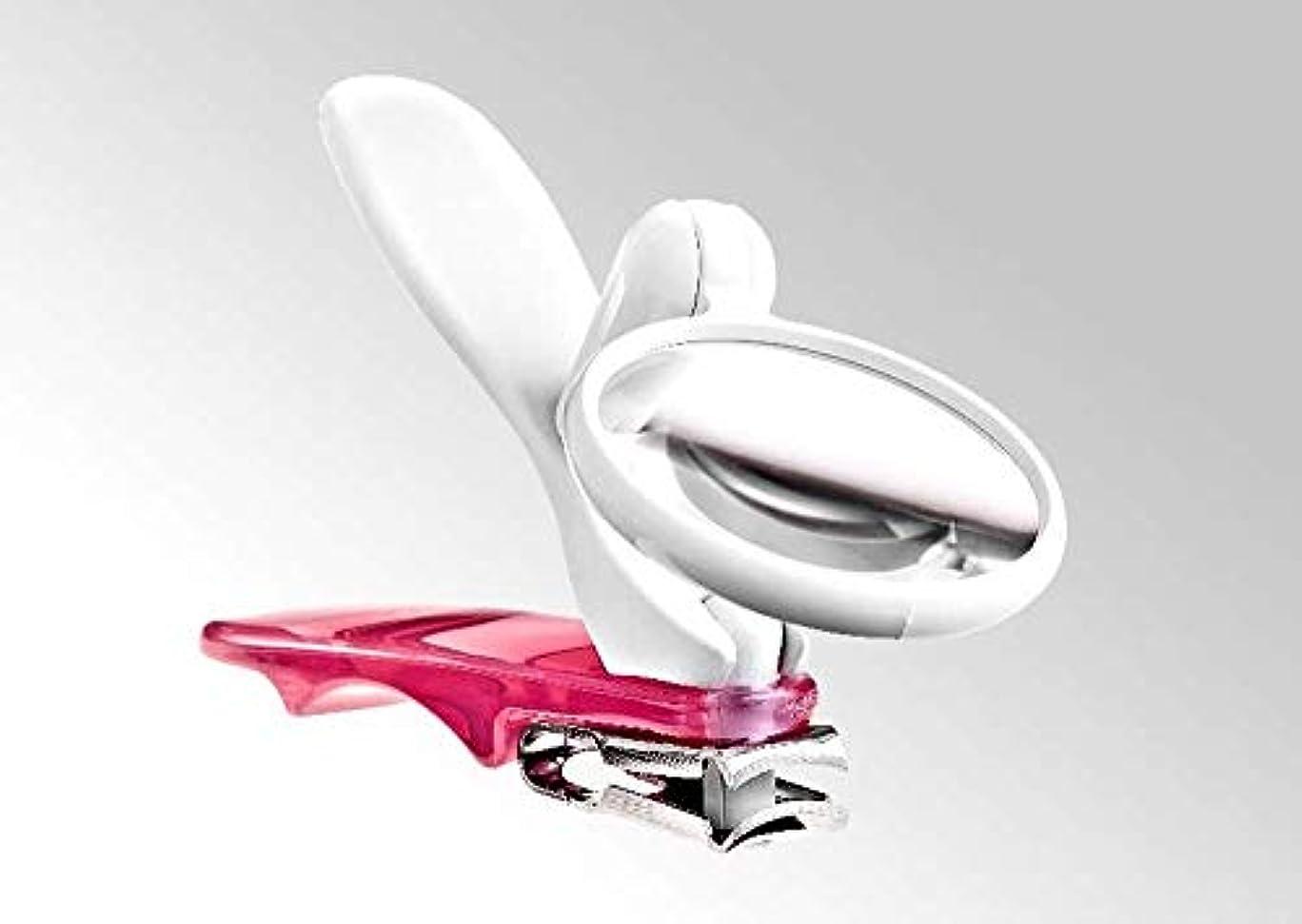 テント貫通修正するBocas 360度回転する足用爪切り?ルーペ付き (ピンク)