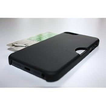 【univarc】ICカード(Suica、PASMOなど)ケース for iPhone5、iPhone5S 「おサイフiPhoneケース」 ブラック(黒) 干渉防止シート付き
