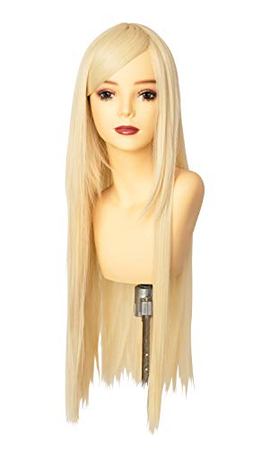 ウィッグ フルウィッグ コスプレ ロング ストレート 耐熱 I型つむじ ミルキーゴールド (Belle Wig)