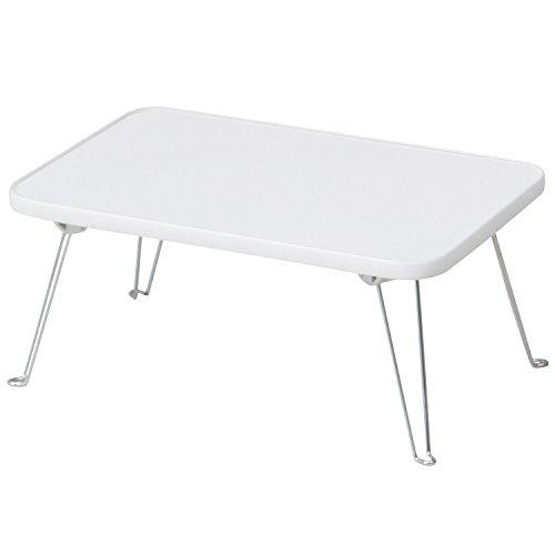 不二貿易 カラーミニテーブル 幅45×奥行30cm ホワイト 85590