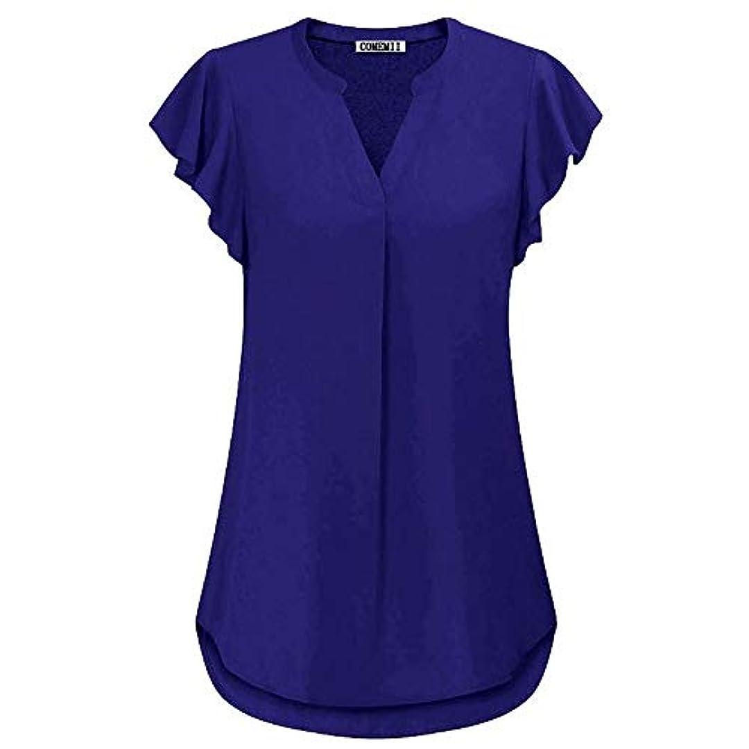 レインコート鰐壮大なMIFAN女性ブラウス、シフォンブラウス、カジュアルTシャツ、ゆったりしたTシャツ、夏用トップス、シフォンシャツ、半袖、プラスサイズのファッション