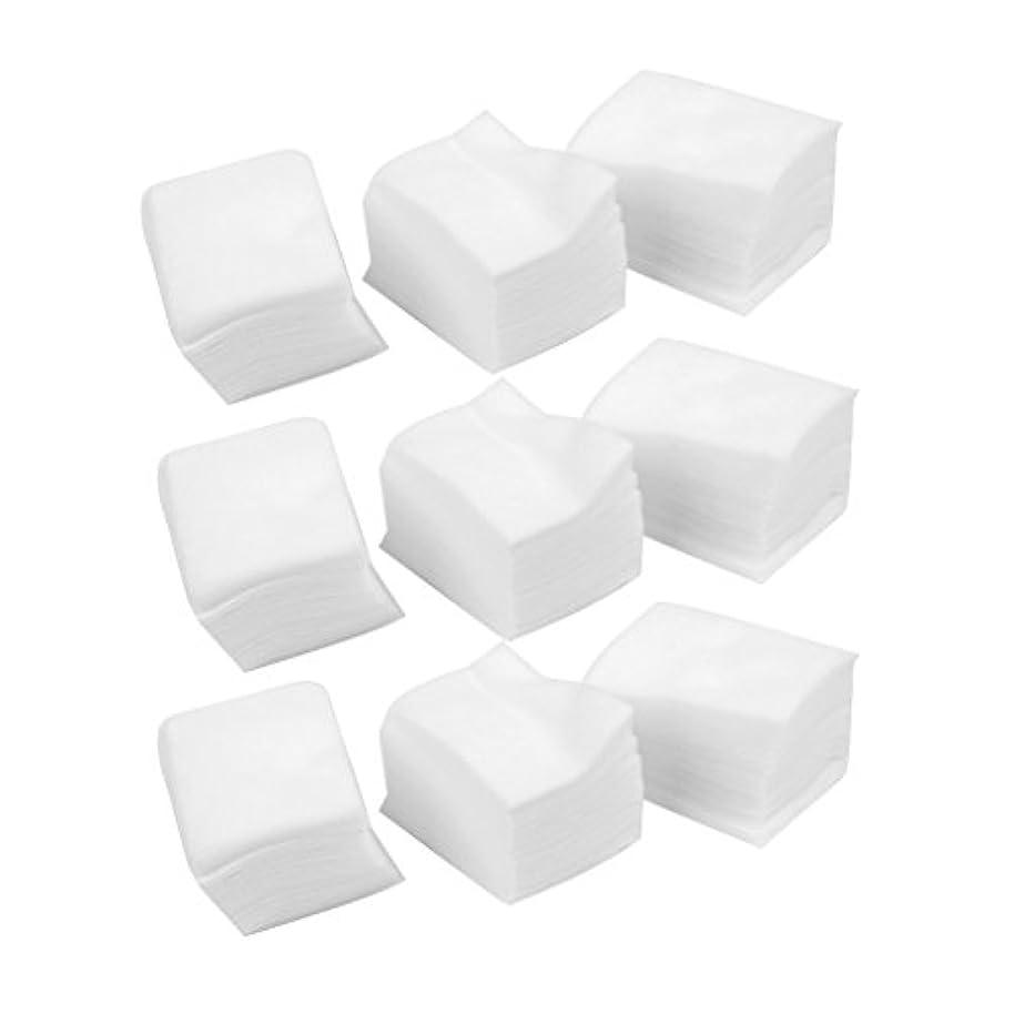 【ノーブランド品】リムーバー用紙 指の甲のクリーナー紙 綿のネイルアート?チップス?マニキュア 650pcs