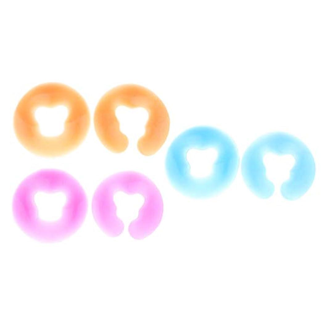 フォーマル困ったドループdailymall 6個のスパピロージェルフェイスパッドフェイシャルレストスパ美容マッサージピロークッション