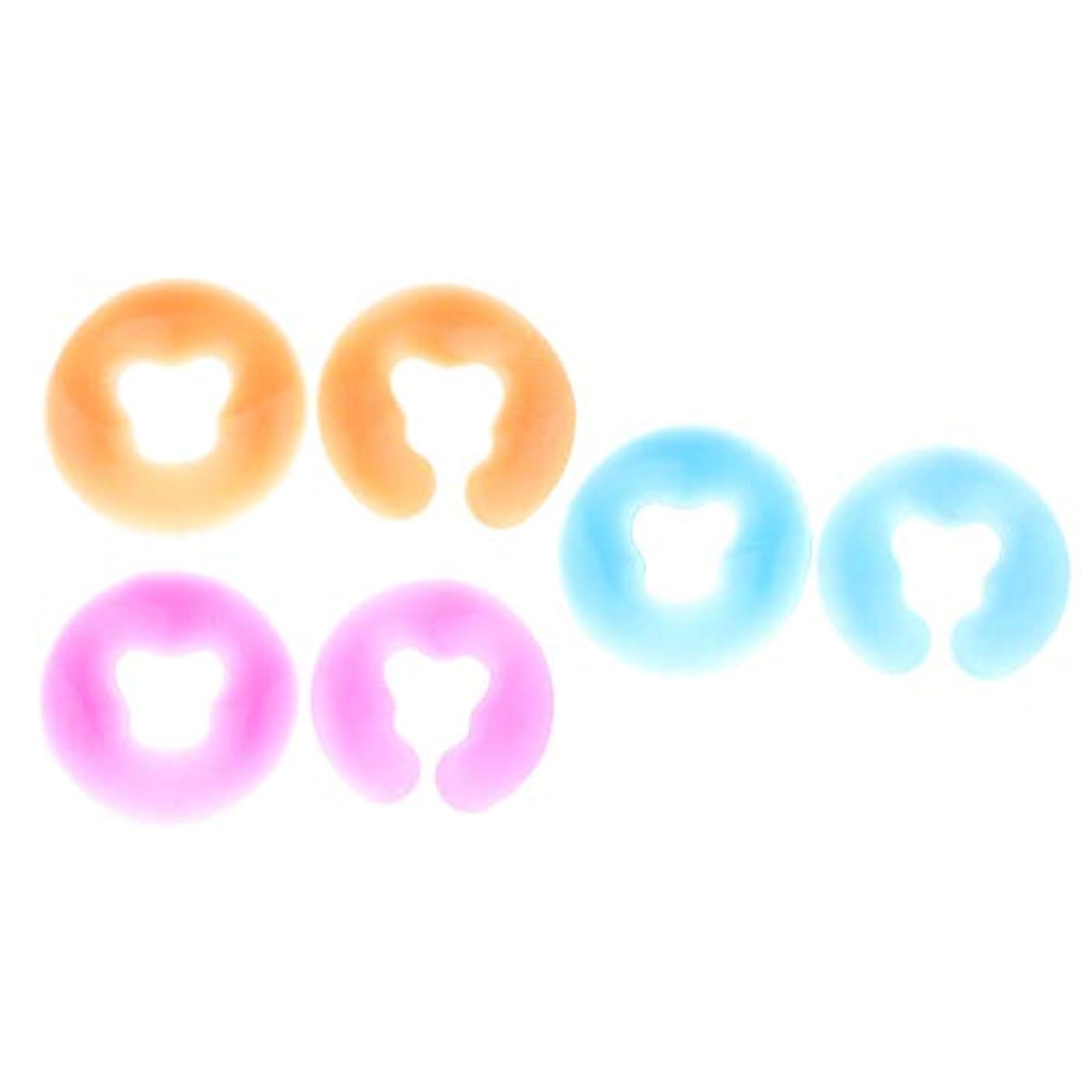 グラムこれら仮定するchiwanji 6個 シリコン フェイスクッション マッサージフェイスパッド 耐久性