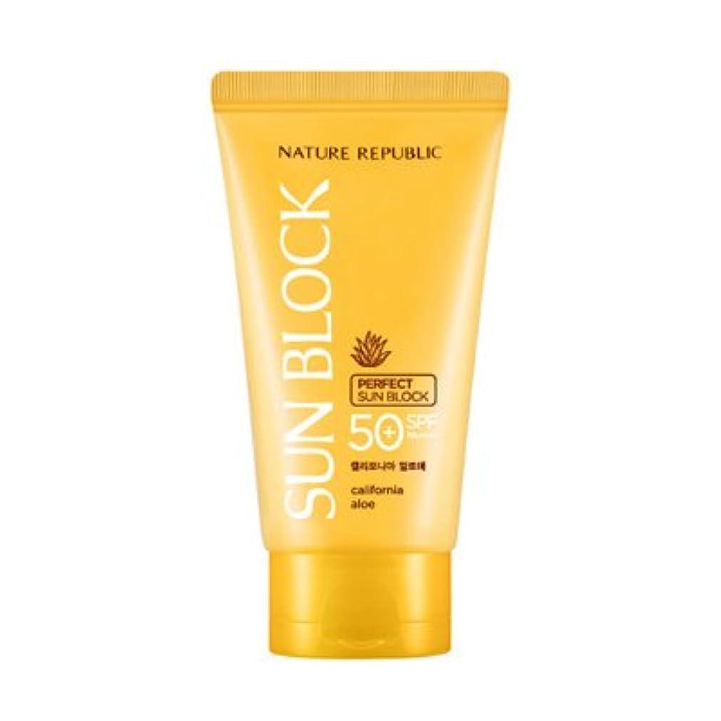 努力確執に対応NATURE REPUBLIC California Aloe Perfect Sun Block SPF50+ PA++++ 150ml / ネイチャーリパブリック カリフォルニアアロエパーフェクトサンブロック [並行輸入品]