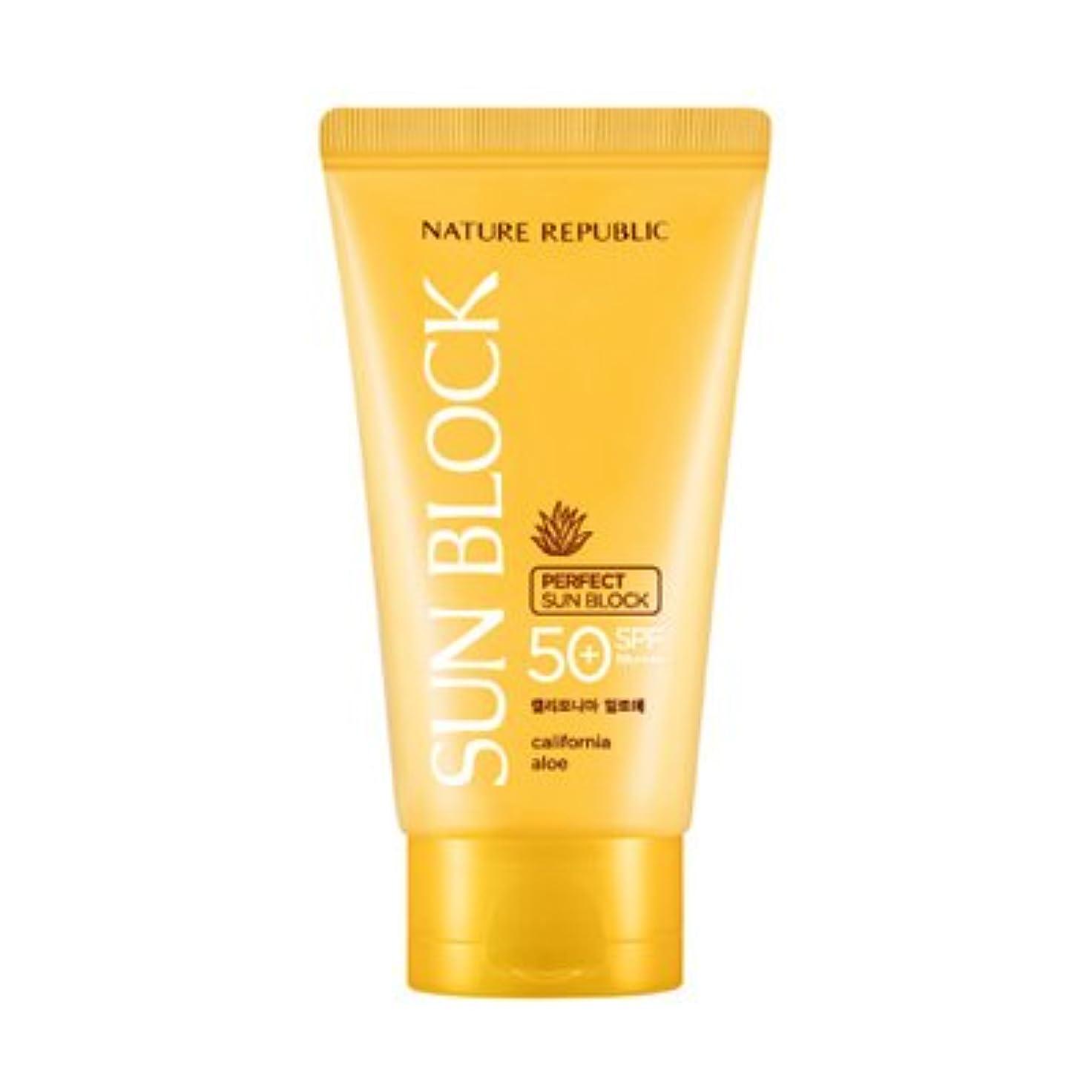 通貨ベックスマークされたNATURE REPUBLIC California Aloe Perfect Sun Block SPF50+ PA++++ 150ml / ネイチャーリパブリック カリフォルニアアロエパーフェクトサンブロック [並行輸入品]