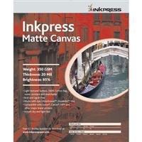 "Inkpressアーティストの防水仕様Stretchableキャンバス、明るいホワイトマットインクジェット布、20mil。、350GSM。、13"" x 19"" 10シート。"