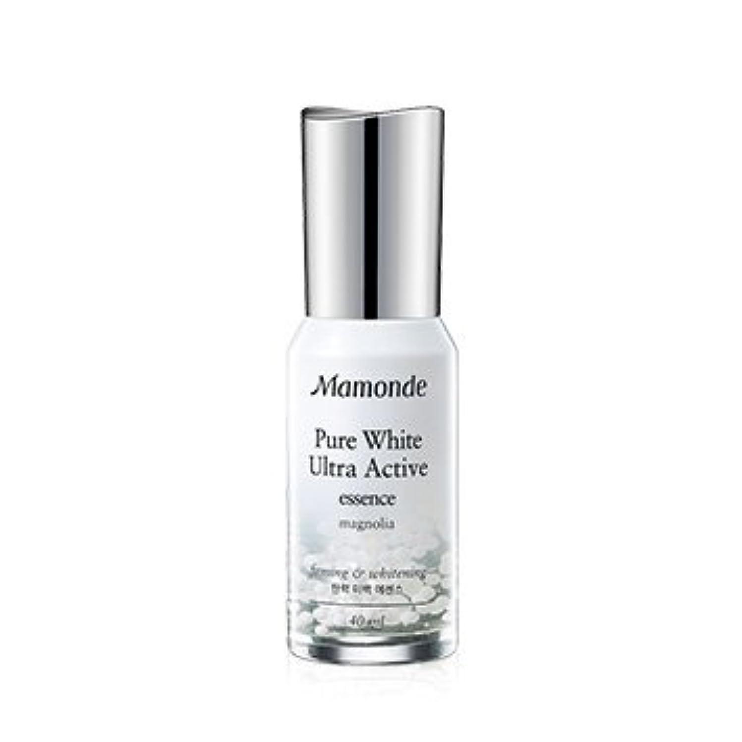 不和規模文芸Mamonde Pure White Ultra Active Essence 40ml/マモンド ピュア ホワイト ウルトラ アクティブ エッセンス 40ml [並行輸入品]