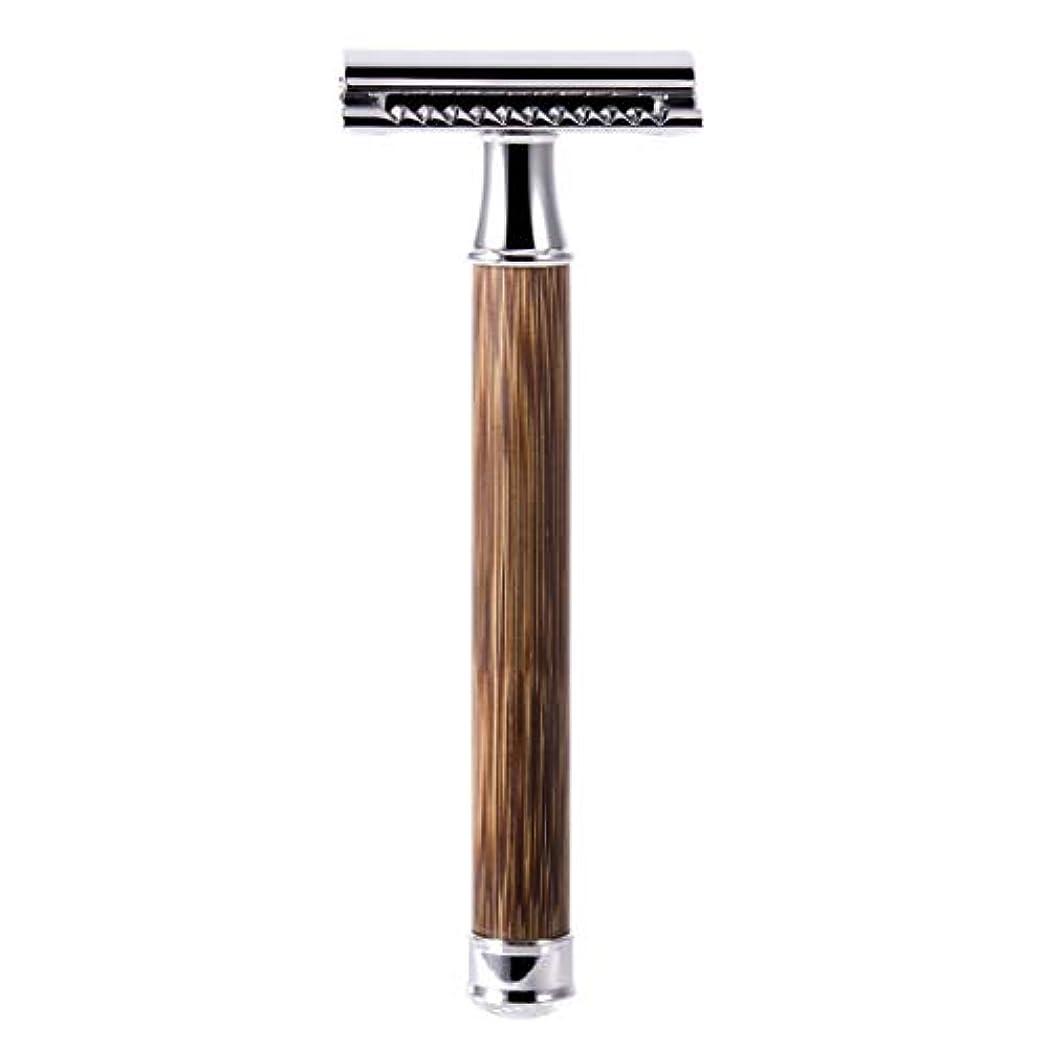 蒸し器神秘的な事務所QIANMEI レトロダブルエッジ剃刀安全カミソリヘアーリムーバーかみそりは、すべての標準レイザーブレードに適合します