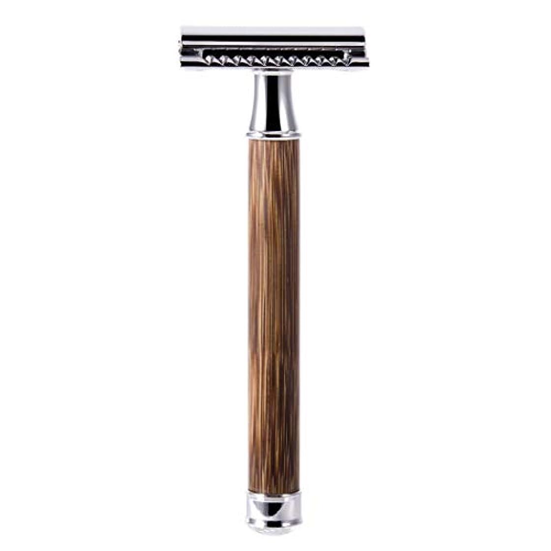 進化課す契約QIANMEI レトロダブルエッジ剃刀安全カミソリヘアーリムーバーかみそりは、すべての標準レイザーブレードに適合します