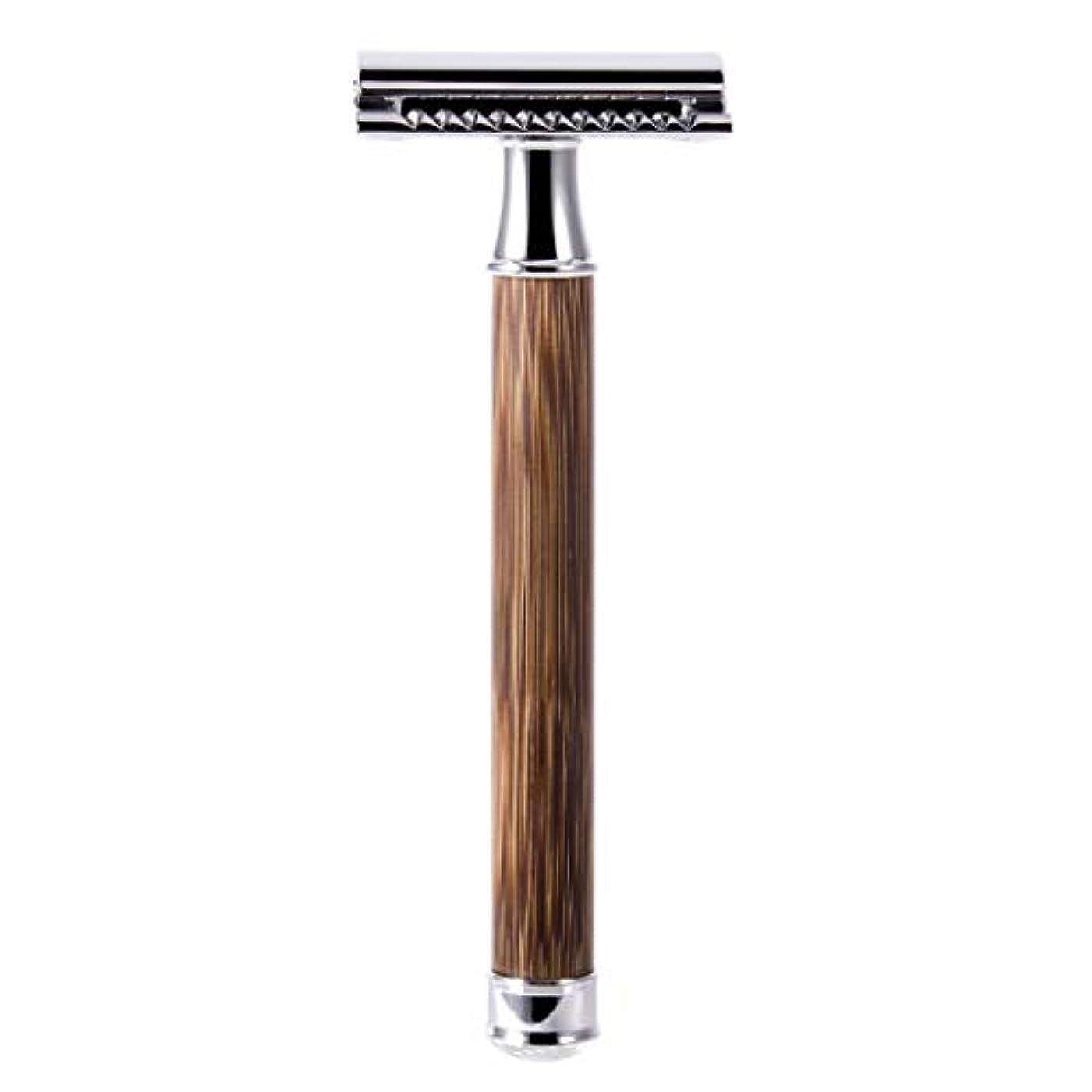 受け入れノベルティ丁寧QIANMEI レトロダブルエッジ剃刀安全カミソリヘアーリムーバーかみそりは、すべての標準レイザーブレードに適合します