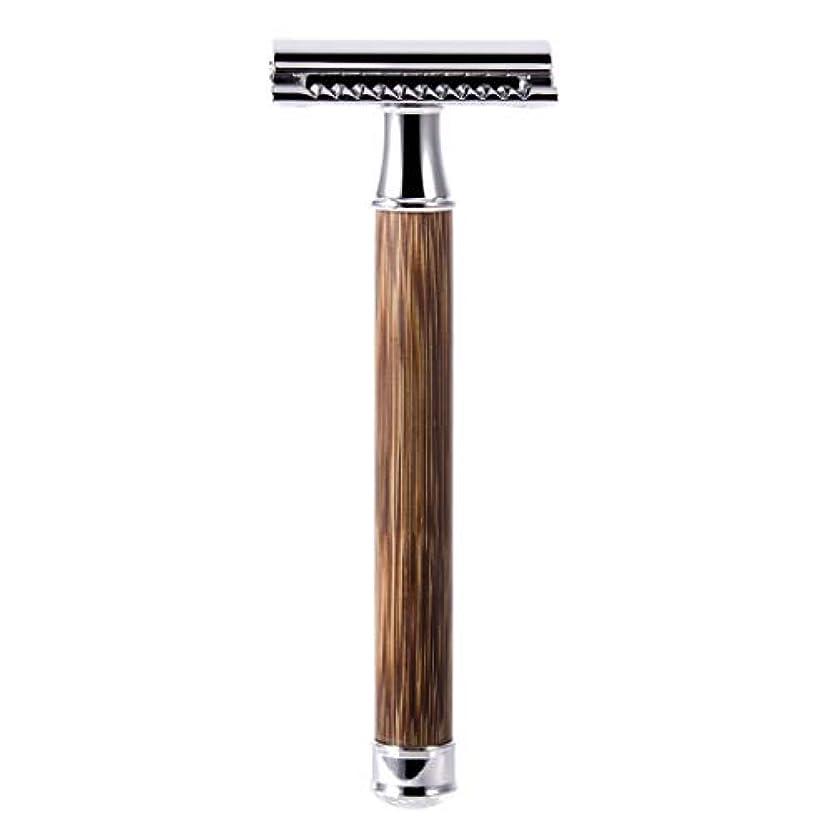 一口中消毒剤QIANMEI レトロダブルエッジ剃刀安全カミソリヘアーリムーバーかみそりは、すべての標準レイザーブレードに適合します