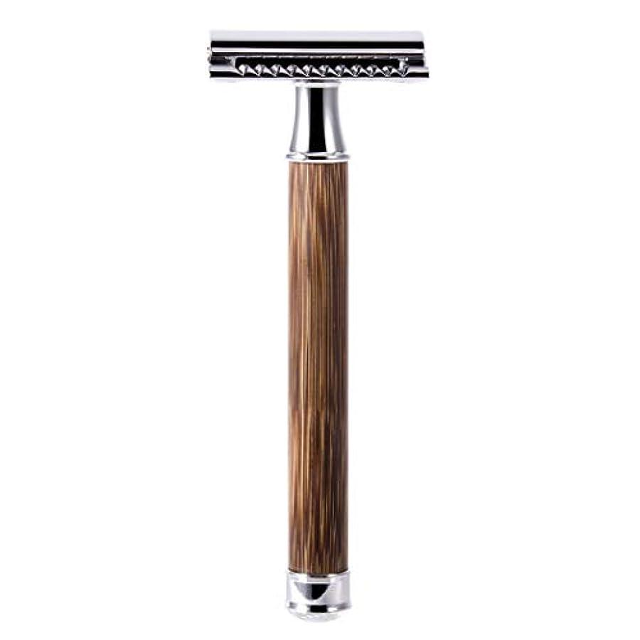 トランペット信号みなすQIANMEI レトロダブルエッジ剃刀安全カミソリヘアーリムーバーかみそりは、すべての標準レイザーブレードに適合します
