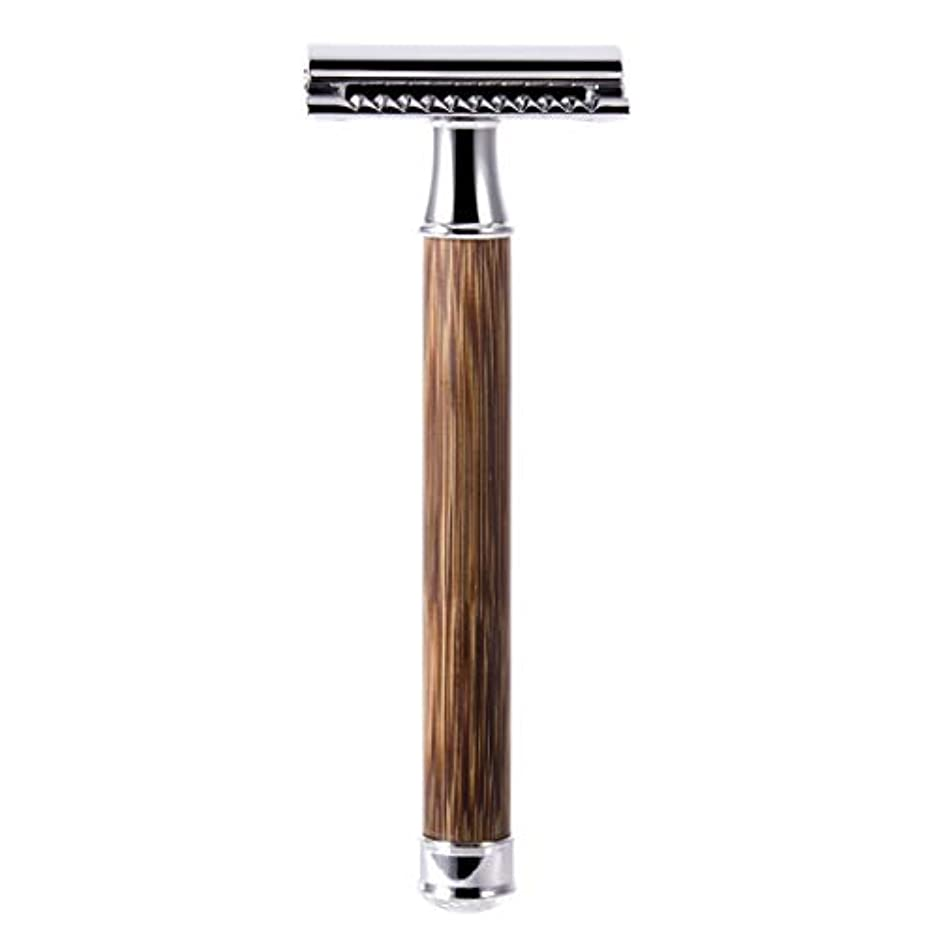 あさりウミウシ思慮深いQIANMEI レトロダブルエッジ剃刀安全カミソリヘアーリムーバーかみそりは、すべての標準レイザーブレードに適合します