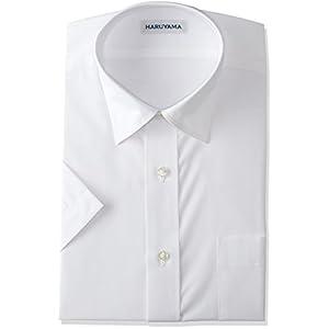 (はるやま) HARUYAMA 形態安定加工 イージーケア 半袖 白 セミワイドカラーワイシャツ M162180001 01 ホワイト 首周り39cm