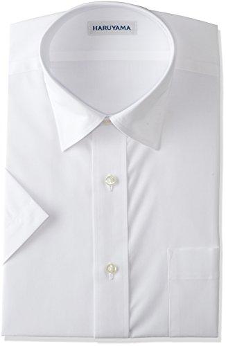 (はるやま) HARUYAMA 形態安定加工 イージーケア 半袖 白 セミワイドカラーワイシャツ M162180001 01 ホワイト 首周り38cm