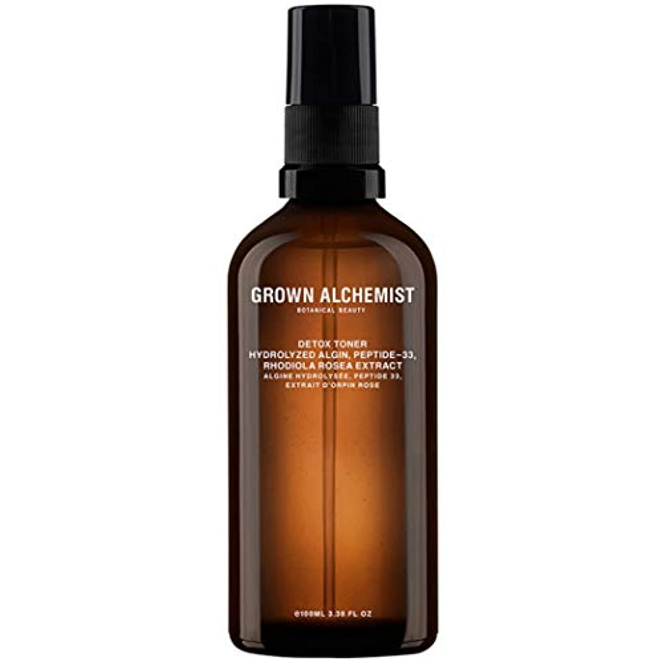 学生魔法無許可Grown Alchemist Detox Toner - Hydrolyzed Algin, Peptide-33 & Rhodiola Rosea Extract 100ml/3.38oz並行輸入品