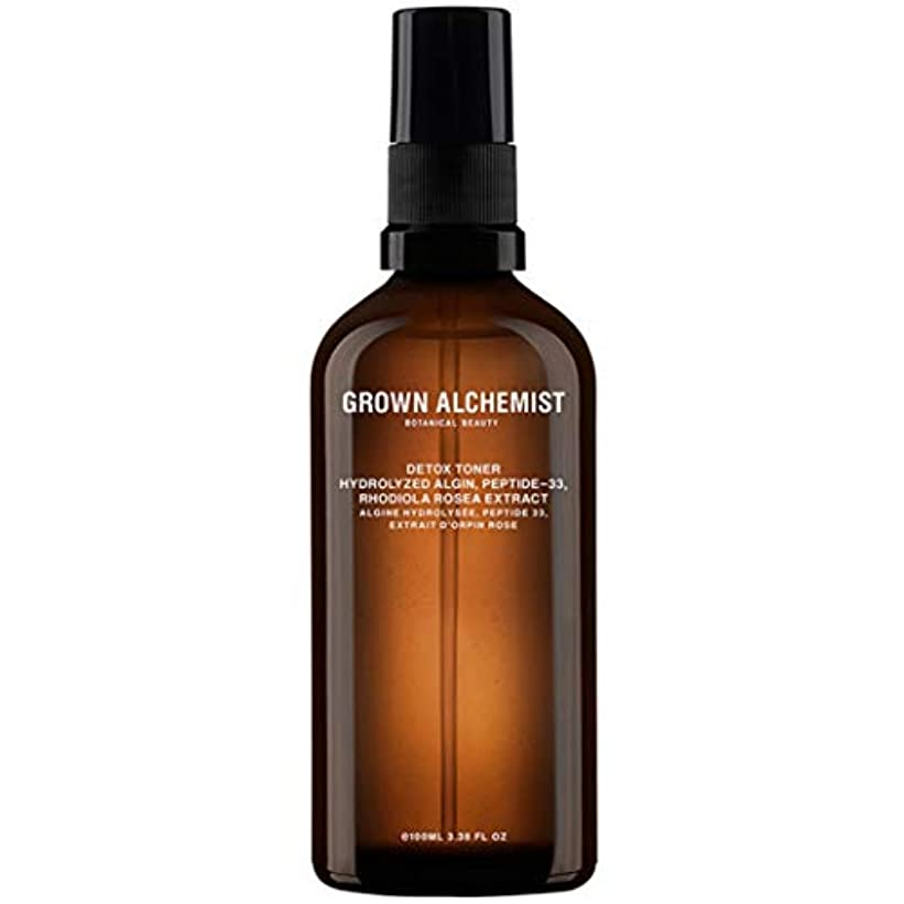 体系的に散歩バラ色Grown Alchemist Detox Toner - Hydrolyzed Algin, Peptide-33 & Rhodiola Rosea Extract 100ml/3.38oz並行輸入品