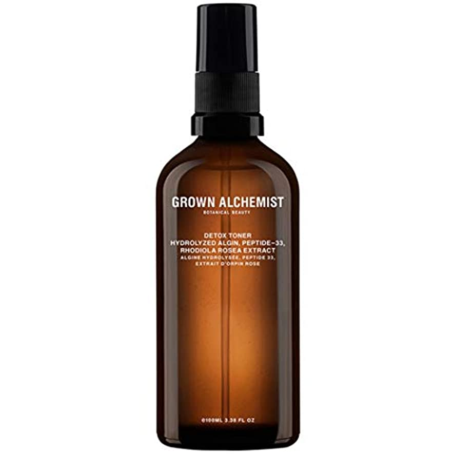 貯水池苦難公平なGrown Alchemist Detox Toner - Hydrolyzed Algin, Peptide-33 & Rhodiola Rosea Extract 100ml/3.38oz並行輸入品