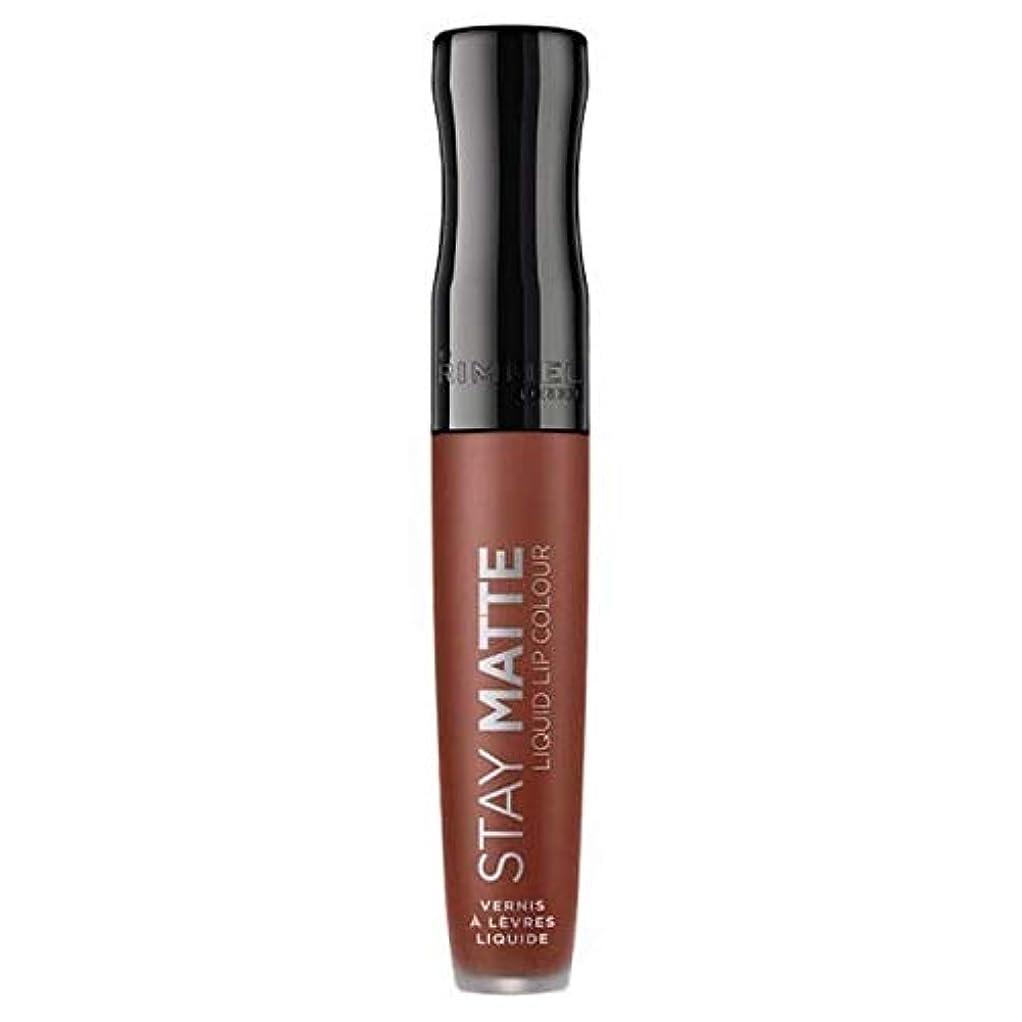 暫定のアルミニウム細部[Rimmel ] リンメルステイマット液体リップ口紅愛のかま - Rimmel Stay Matte Liquid Lip Lipstick Love Bite [並行輸入品]