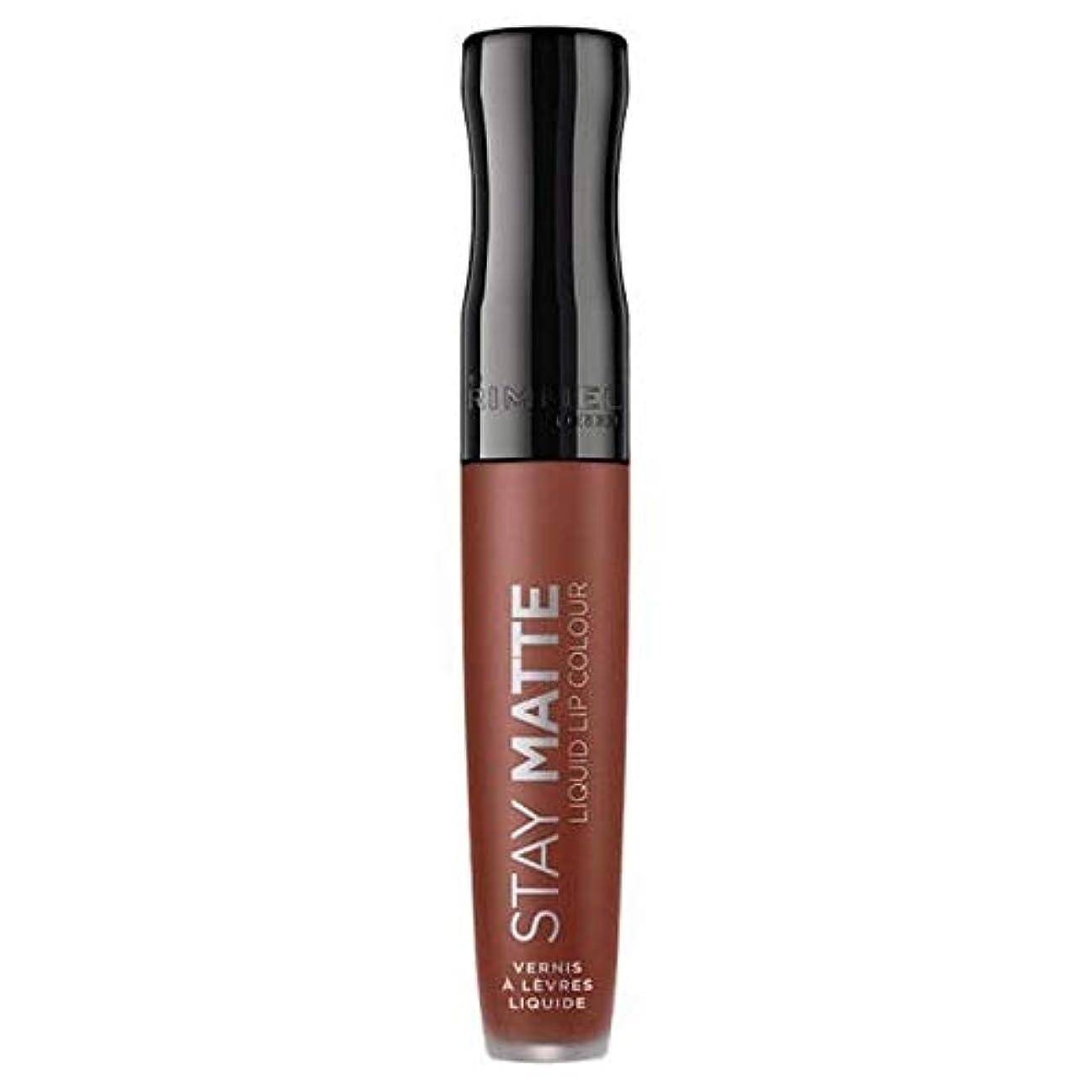 伝統成分取り壊す[Rimmel ] リンメルステイマット液体リップ口紅愛のかま - Rimmel Stay Matte Liquid Lip Lipstick Love Bite [並行輸入品]