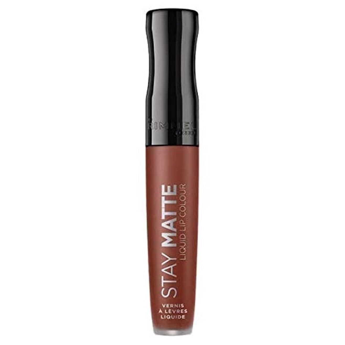 才能のある牛めったに[Rimmel ] リンメルステイマット液体リップ口紅愛のかま - Rimmel Stay Matte Liquid Lip Lipstick Love Bite [並行輸入品]