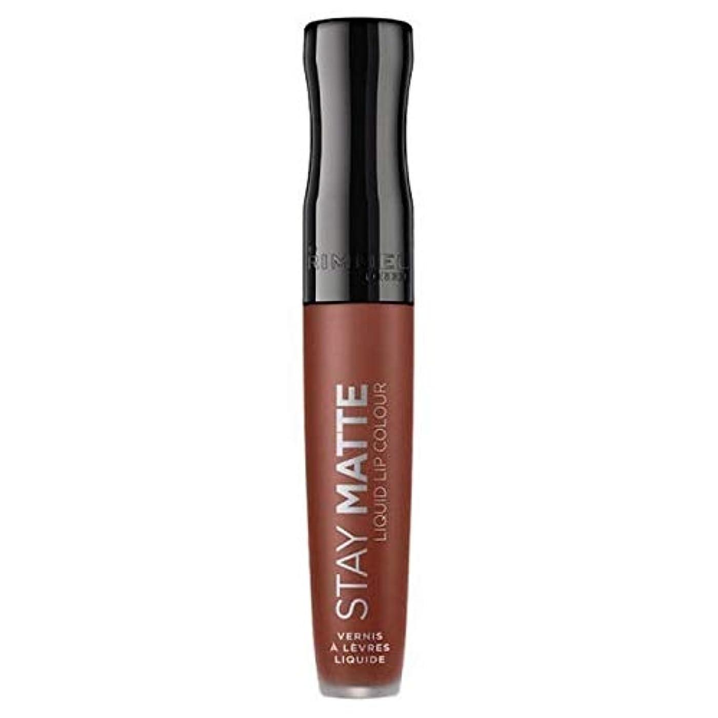 筋肉のバルコニー薄い[Rimmel ] リンメルステイマット液体リップ口紅愛のかま - Rimmel Stay Matte Liquid Lip Lipstick Love Bite [並行輸入品]
