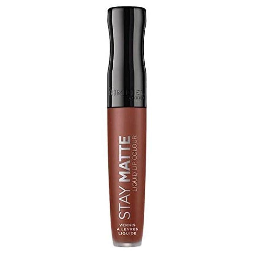 ネイティブ仕事ダウンタウン[Rimmel ] リンメルステイマット液体リップ口紅愛のかま - Rimmel Stay Matte Liquid Lip Lipstick Love Bite [並行輸入品]