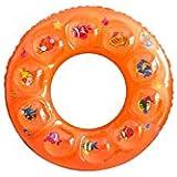 TYZP 赤ちゃんのプールインフレータブルスパビーチ安全水泳フロート子供水泳リング2-5または6-10歳オールドオレンジ (Size : S)