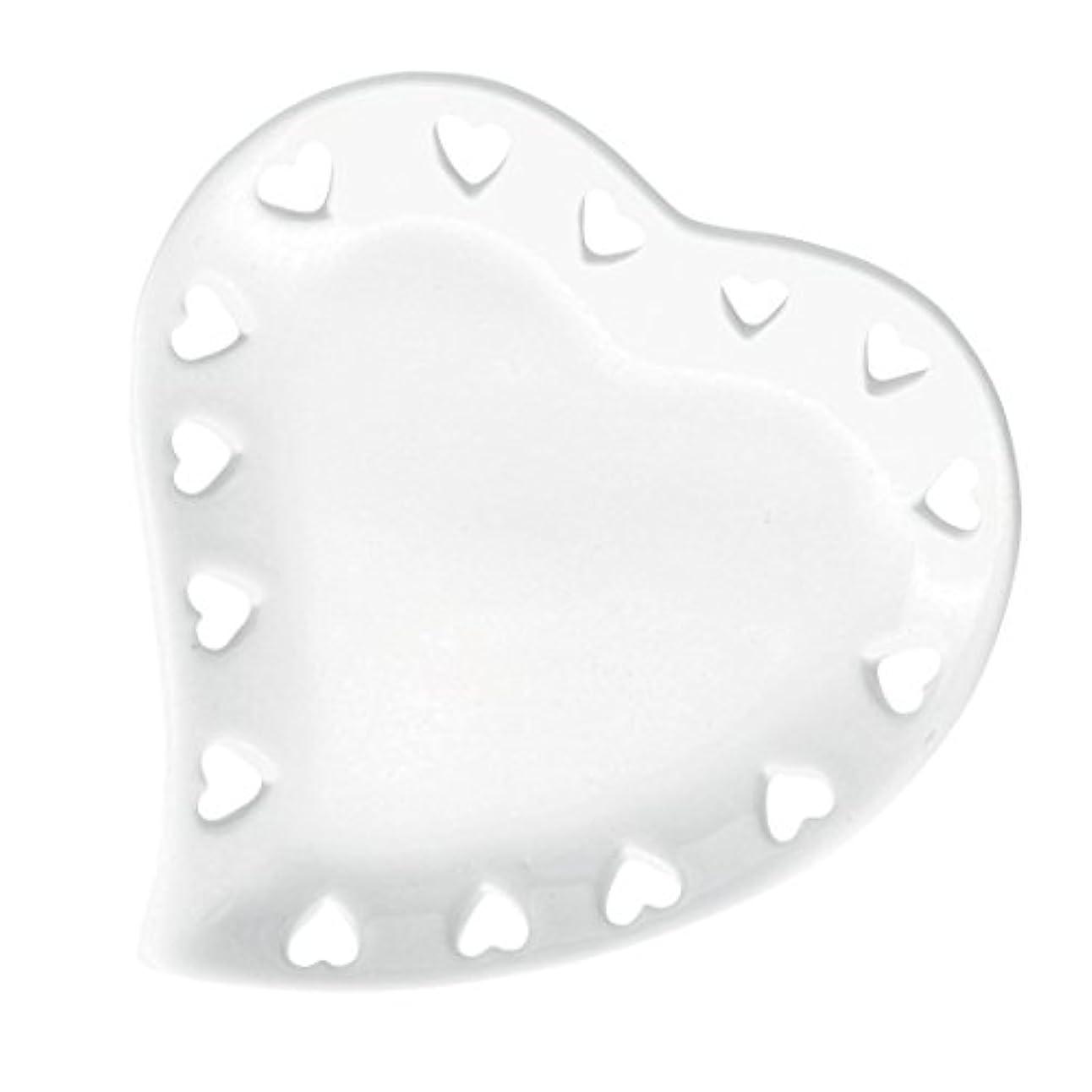 ピーク任命適応ハートプレートS 「 ホワイト 」