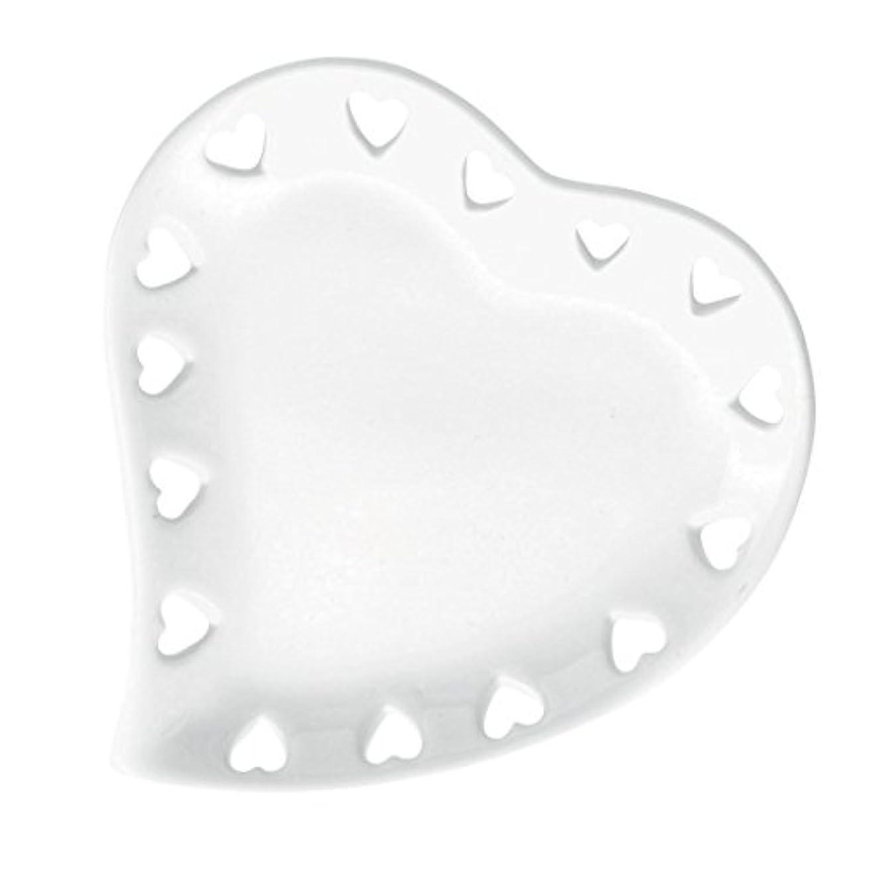 破壊的なバッグ震えハートプレートS 「 ホワイト 」