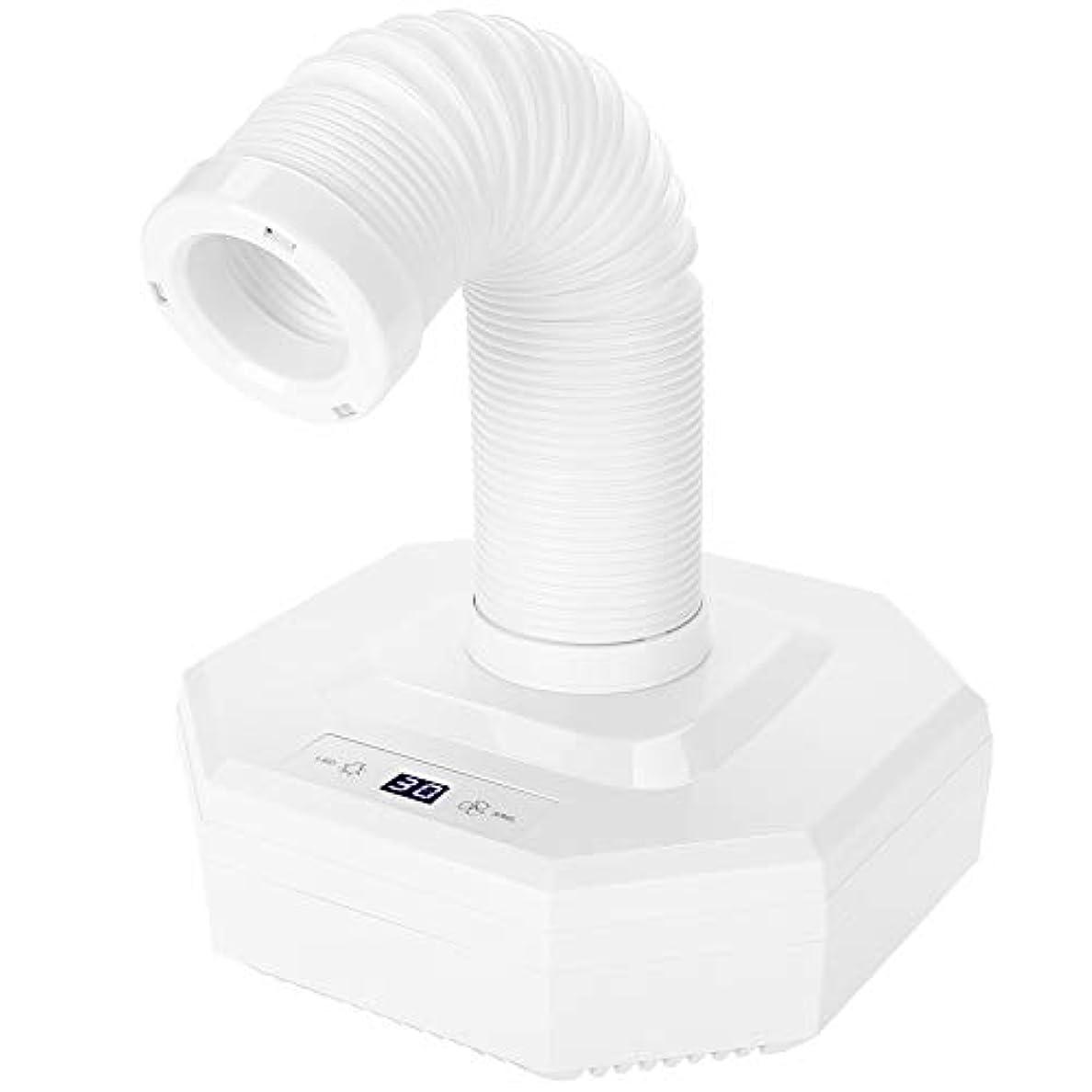 ピン右石ネイル集塵機、60ワット強力なパワーマニキュア吸引掃除機用サロンuvジェルアクリルアートペディキュアツール(白)