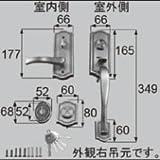 LIXIL部品 ドア・引戸用部品 錠 玄関・店舗・勝手口・テラスドア:把手セット[AZWZ736] ブロンズ 左(AZWZ802)