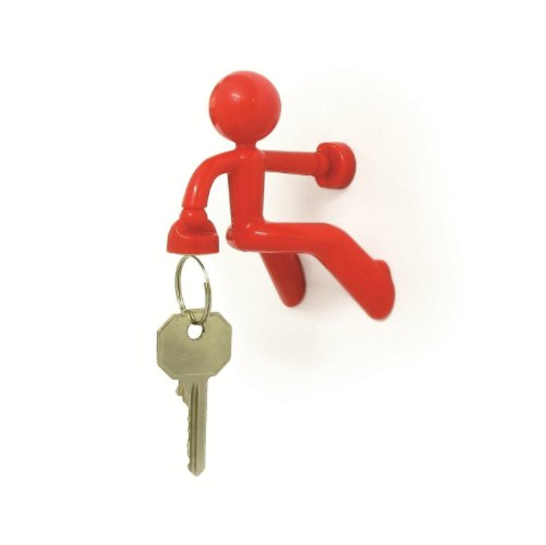 実用的 & インパクト大 KEY PETE 強力 磁石 鍵かけ 鍵フック (レッド)