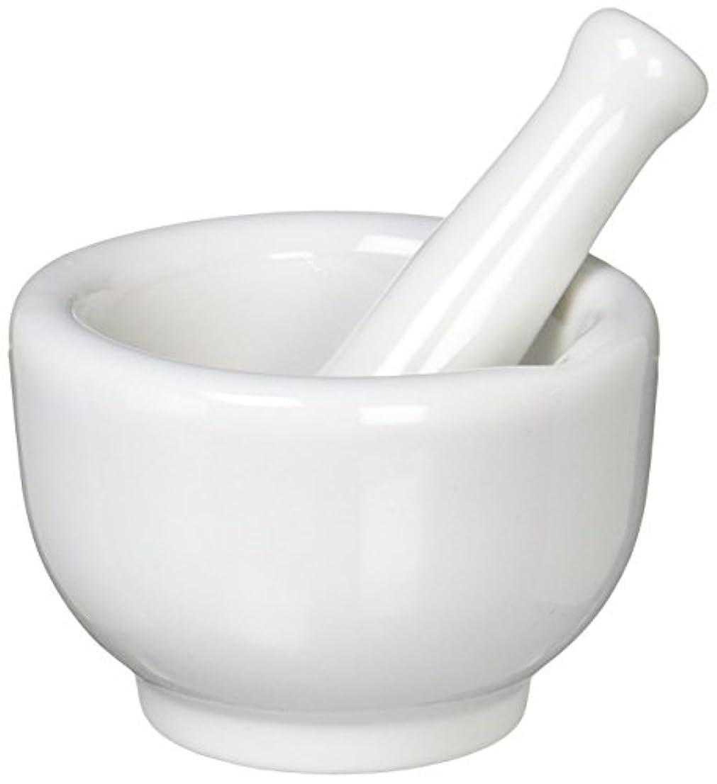 はげ量でセンチメートル丸寿製陶 乳鉢セット 磁製 並60mm 乳棒付