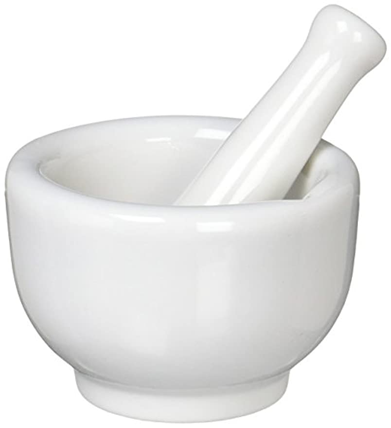 起点息を切らしてスプレー丸寿製陶 乳鉢セット 磁製 並60mm 乳棒付